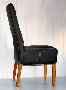 Stuhl Eiche Leder : stuhl 46x103x65cm leder toledo caffee kontrastnaht ~ Watch28wear.com Haus und Dekorationen
