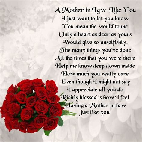 personalised coaster mother  law poem red roses