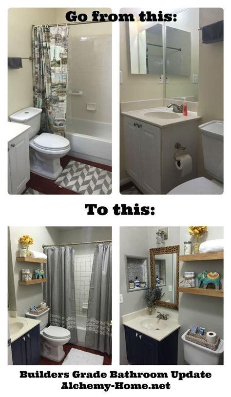 easy diy builders grade bathroom updates easy bathroom