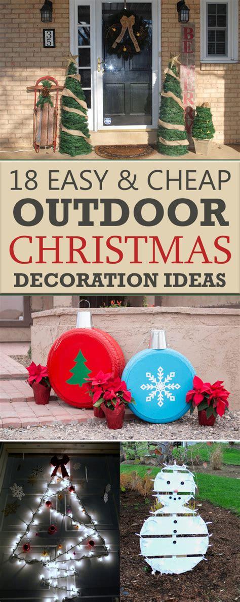 easy  cheap diy outdoor christmas decoration ideas