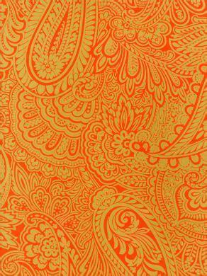 orange paisley wallpaper gallery