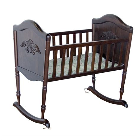 rocking crib for babies davinci wood espresso baby cradle