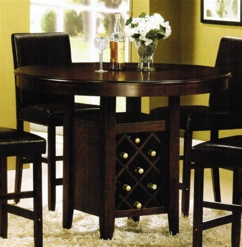 kitchen table with wine storage dining room table with wine rack marceladick 8647