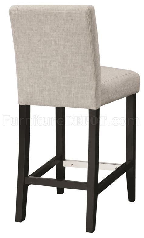 130063 counter height chair set of 4 in ivory fabric by