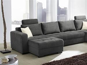 L Couch Grau : wohnlandschaft antigua 357x222cm mikrofaser grau sofa couch wohnbereiche wohnzimmer sofa ~ Orissabook.com Haus und Dekorationen