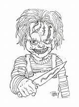 Chucky Evil Maniac Mosca Arte Game Cop sketch template
