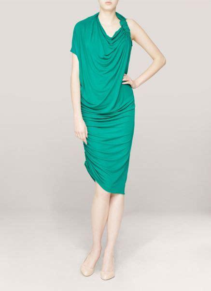 Lanvin Draped Dress - lanvin draped jersey dress in green lyst