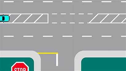 Right Turning Multi Laned Roads Drive Turn