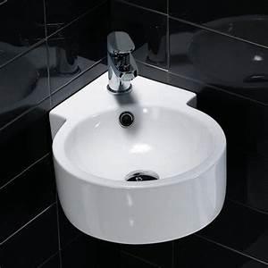 Waschbecken Kleines Badezimmer : eck waschbecken handwaschbecken f r g ste wc kleine badezimmer toiletten wei es rundes ~ Sanjose-hotels-ca.com Haus und Dekorationen