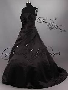 Robe De Mariée Noire : robe de mariee bustier noire blanche rouge grande taille ~ Dallasstarsshop.com Idées de Décoration