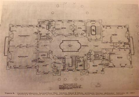 vanderbilt mansion hyde park  floor architectural floor plans vanderbilt mansions