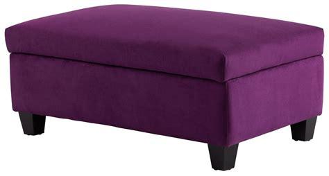 Purple Ottoman aldous purple ottoman 8352 cyan design