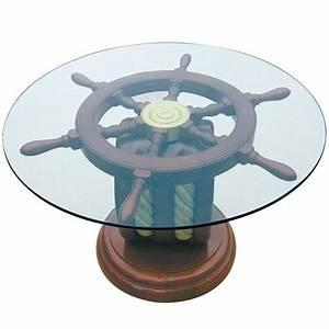 Nautical, Decor, Ideas, Enhanced, By, Vintage, Ship, Wheels, And, Handmade, Themed, Decorations