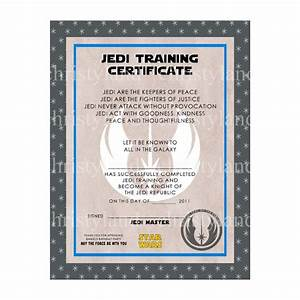 29 best certificate templates images on pinterest With star wars jedi certificate template free