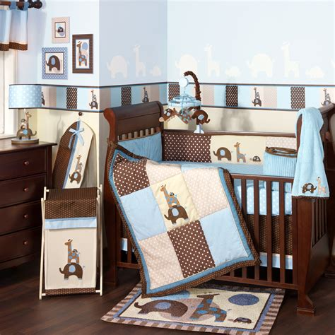 Bedding For by Excited Brown And Blue Bedding For Nursery Atzine
