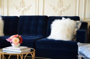 blue velvet tufted sofa quotes