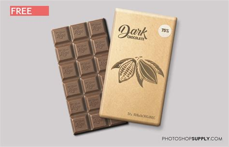 ✓ free for commercial use ✓ high quality images. (FREE) Chocolate Bar Mockup - Photoshop Supply