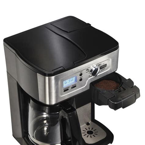 Fits any size cup or mug. Hamilton Beach 2-Way FlexBrew Coffee Brewer - 49983