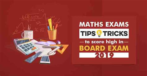 maths exams tips  tricks  score high  board exam