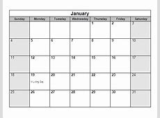 8 Sample Yearly Calendar Templates to Download Sample