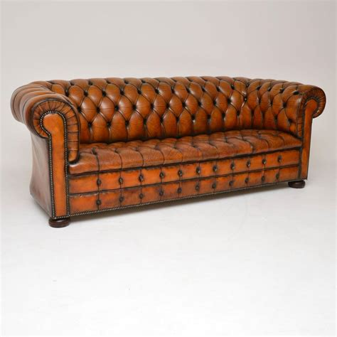 Chesterfield Sofa Antique by Antique Buttoned Leather Chesterfield Sofa