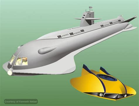 Flying Ufo Boat by Voyage To The Bottom Of The Sea Seaview Submarine