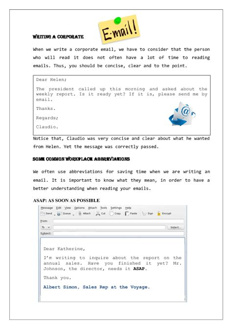 33 free email worksheets