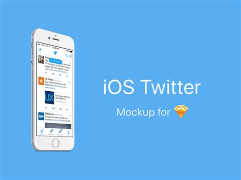 Twitter Home Screen Template by Ios Twitter Mockup Sketch Freebie Download Free Resource