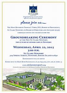 Groundbreaking Ceremony Invitation Templates Images Template Design