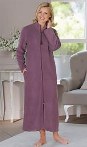 robe de chambre femme avec fermeture eclair galerie et de With robe de chambre polaire femme avec fermeture eclair