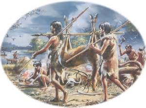 Stone Age People Hunting for Food