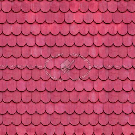 Wood Shingle Roof Texture Seamless 03889