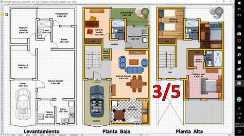 planos de casas  excel anteproyecto de ampliacion
