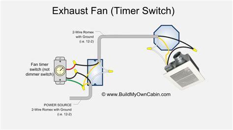 Bathroom Fan Wiring Diagram Timer Switch
