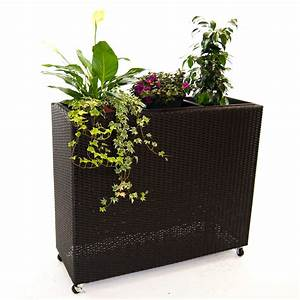 Pflanzkubel pflanztrog polyrattan als raumteiler mit for Whirlpool garten mit moderne pflanzkübel innen
