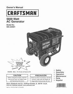 Craftsman 580 325601 Owner U0026 39 S Manual