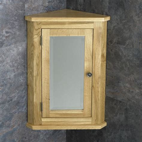 Oak Corner Bathroom Cabinet by Solid Oak Wall Mounted Corner 600mm Bathroom