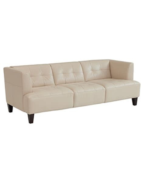 alessia leather sofa slate alessia leather sofa furniture macy s