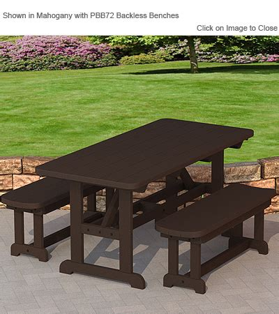 polywood 174 pt3672 commercial grade dining table polywood