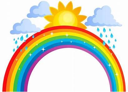 Rainbow Clip Clouds Transparent Clipart Sun Cloud