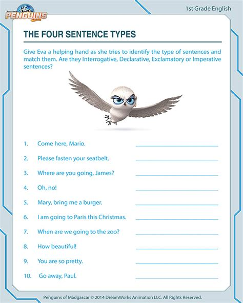 sentence types fun english worksheets jumpstart