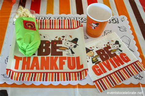 charlie brown thanksgiving table thanksgiving activities for kids events to celebrate