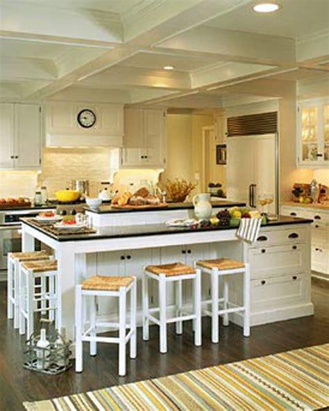 white kitchen island  seating  kitchen