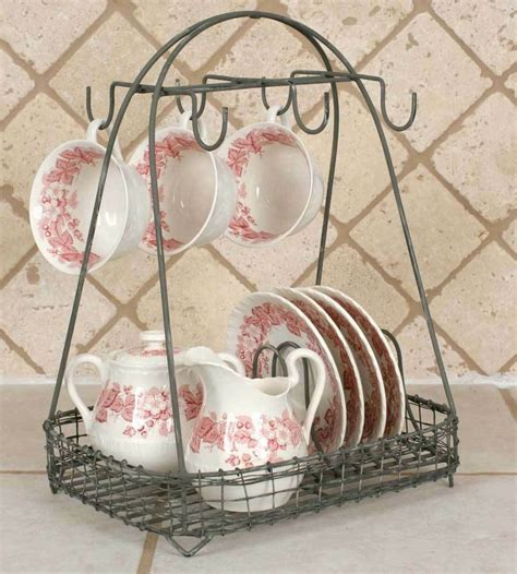 vintage style dish teacup rack caddy holder shabby chic french country ebay