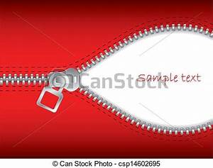 EPS Vectors of Zip it 2 - Open red zipper with white space ...