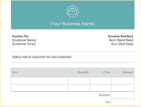 invoice examples   kind  business