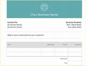 Invoice examples for every kind of business for How to send invoice with square