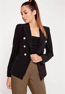 Military Style Blazer Black | Missguided Australia