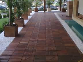 ipe wood deck tiles for hard wearing outdoor flooring
