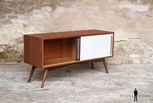 Meuble Scandinave Vintage : meuble tv hifi bas teck scandinave vintage ~ Teatrodelosmanantiales.com Idées de Décoration
